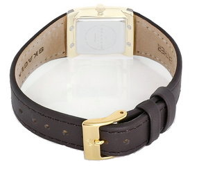Skagen Watch Replacement Leather Strap Brown For 523XSGLDW With Free Screws