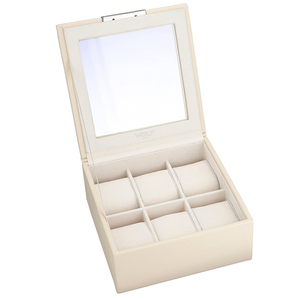 Wolf Stackable Watchbox For Up To 6 Watches In Cream 309653
