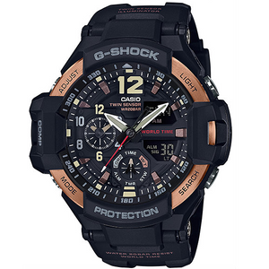 G-Shock Aviator Digital Compass Thermometer Rose Gold Chronograph Watch GA-1100RG-1AER