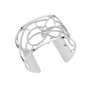 Les Georgettes Ladies Bracelet Silver Large Size Petals