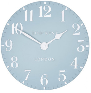 Thomas Kent  Arabic Wall Stonewash Blue Small 30cm Designer Wall Clock CK12157