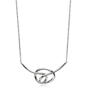 Fiorelli Ladies Silver Large Knot Necklace