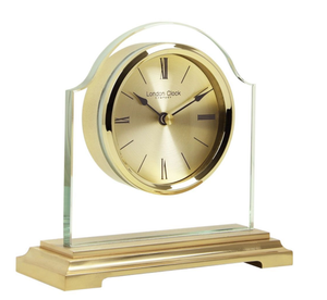 London Clock Gold Break Arch Designer Mantel Clock 3149