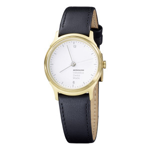 Mondaine Helvetica No1 Light Ladies Small Size Black Strap Watch MH1.L1111.LB