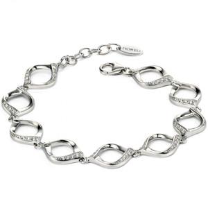 Fiorelli Silver Cubic Zirconia Open Twist Bracelet