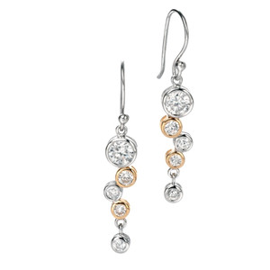 Fiorelli Ladies Silver & Gold Plated Waterfall Drop Earrings