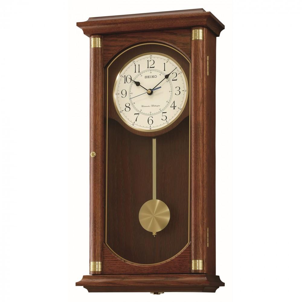 Seiko Westminster And Whittington Chime Wall Clock Qxh039b
