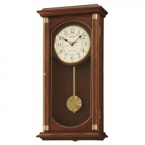 Seiko Westminster Chime / Whittington Chime Pendulum Wooden Wall Clock QXH039B