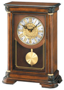 Seiko Westminster and Whittington Chimes Pendulum Mantel Clock QXQ008B