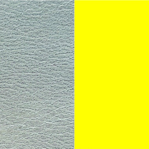 Les Georgettes Leather Insert Medium Size in Azure and Dayglo Yellow