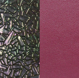 Les Georgettes Leather Insert Medium Size in Broken Glass Petrol and Cherry
