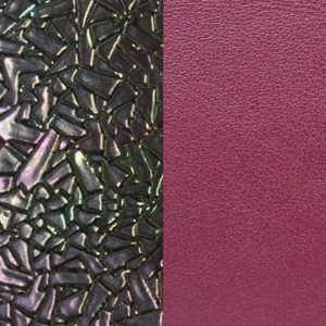 Les Georgettes Leather Insert Large Size in Broken Glass Petrol and Cherry