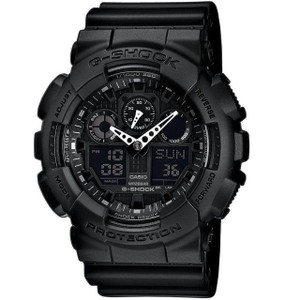 Casio G-Shock Black Chronograph Large Watch GA-100-1A1ER