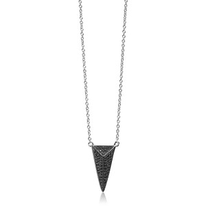 Sif Jakobs Necklace Pecetto Grande With Black Zirconia