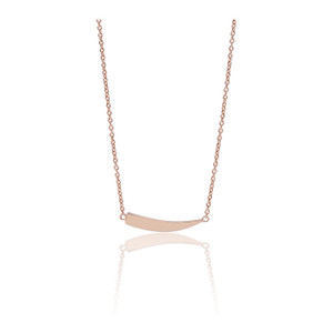 Sif Jakobs Necklace Pila Pianura Rose Gold Plated