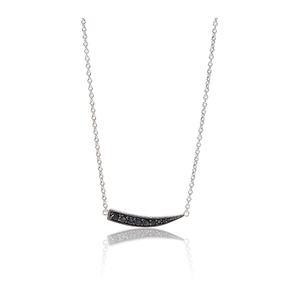 Sif Jakobs Necklace Pila With Black Zirconia