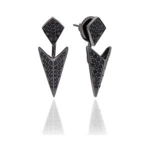 Sif Jakobs Ear Jackets Pecetto With Black Zirconia