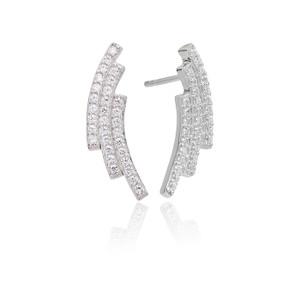 Sif Jakobs Earrings Fucino Tre With White Zirconia
