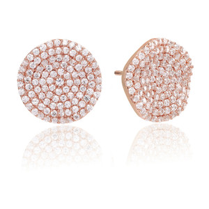 Sif Jakobs Earrings Monterosso Rose Gold Plated With White Zirconia