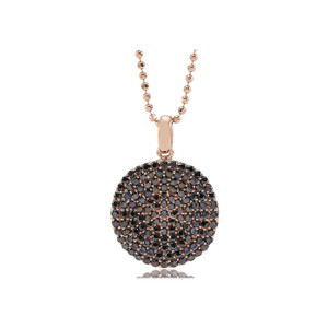 Sif Jakobs Pendant Monterosso Rose Gold Plated With Black Zirconia