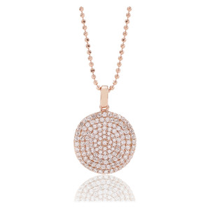 Sif Jakobs Pendant Monterosso Rose Gold Plated With White Zirconia