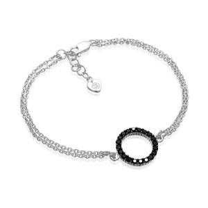 Sif Jakobs Bracelet Biella Grande With Black Zirconia