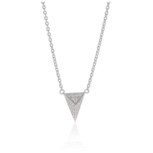Sif Jakobs Necklace Pecetto Piccolo With White Zirconia