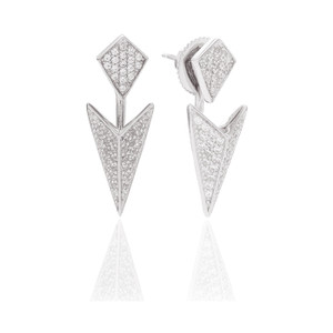 Sif Jakobs Ear Jackets Pecetto With White Zirconia