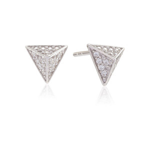 Sif Jakobs Earrings Pecetto Piccolo With White Zirconia