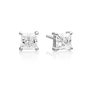 Sif Jakobs Earrings Princess Square With 5mm White Zirconia