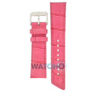 Hirsch Princess Replacement Watch Strap Pink Alligator Embossed 16mm With Free Connecting Pins