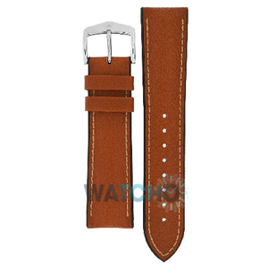Hirsch James Performance Replacement Watch Strap Golden Brown Leather 22mm With Free Connecting Pins