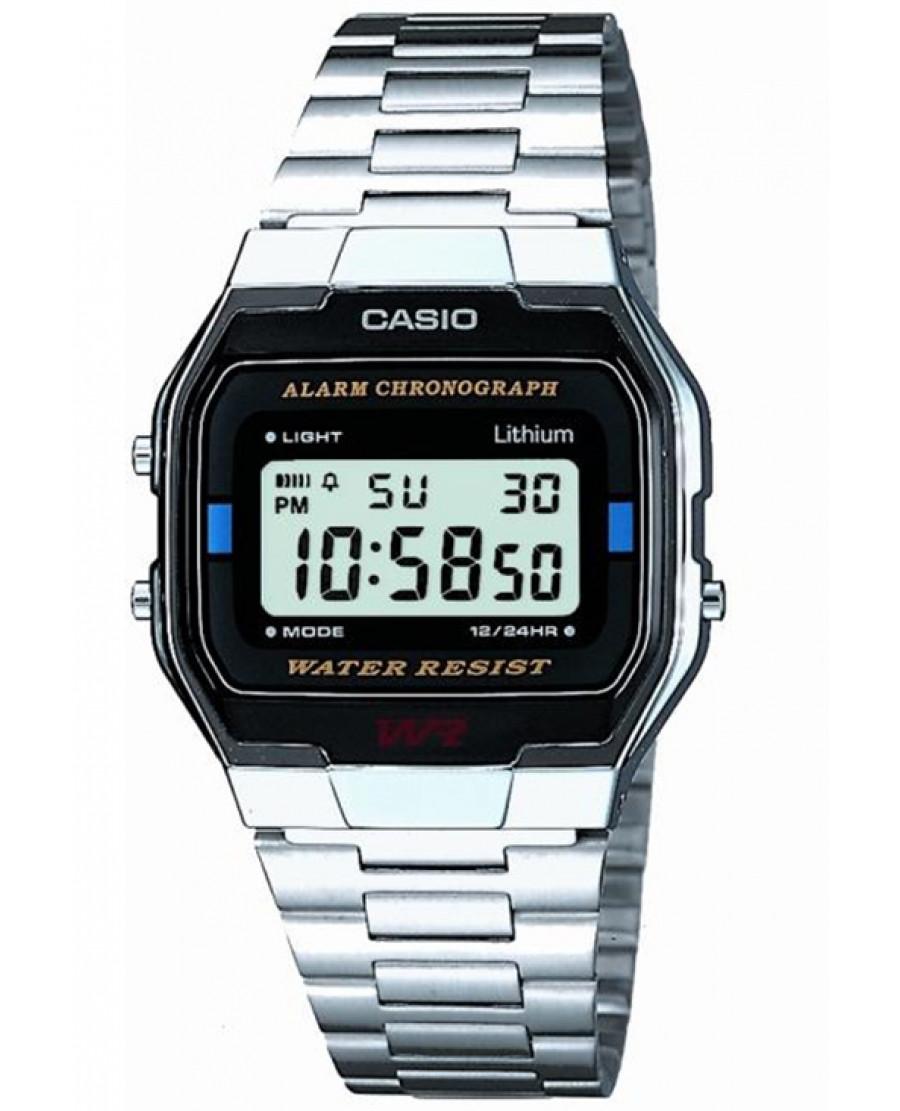 Casio Silver Vintage Chrono Alarm Watch A163wa 1qes Ediface 303l