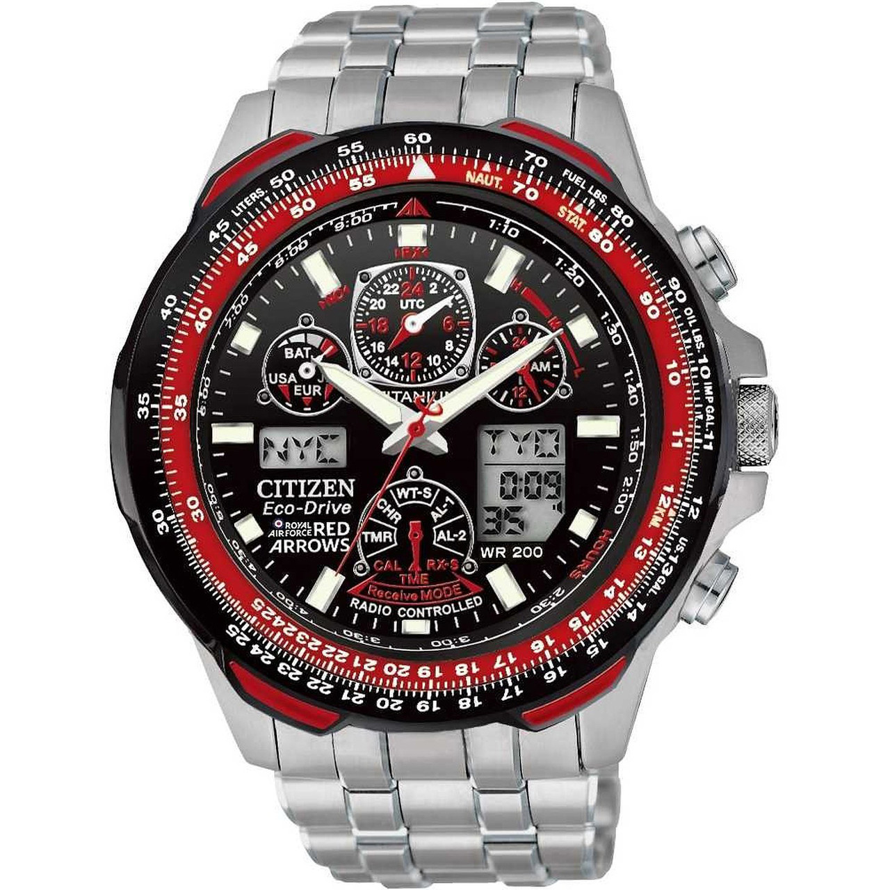 00d9b7e44af Citizen Red Arrows Skyhawk AT Titanium Men s Watch JY0110-55E