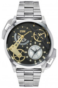 Storm Dualon Stainless Steel Black Men's Watch