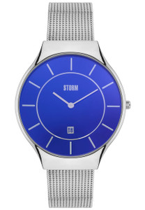 Storm Reese Stainless Steel Lazer Blue Men's Watch