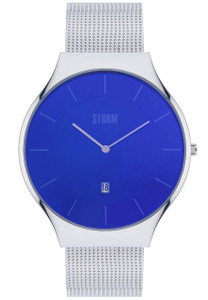 Storm Reese XL Stainless Steel Lazer Blue Men's Watch