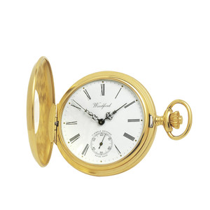 Woodford Gold Plated Half Hunter Swiss Pocket Watch 1015