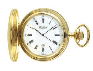 Woodford Gold Plated Half Hunter Swiss Pocket Watch 1085