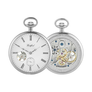 Woodford Open Faced Chrome Pocket Watch 1106