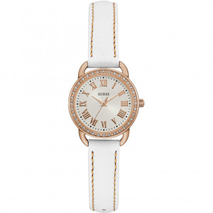 Guess Fifth AVE Stainless Steel Ladies Watch with Rose Gold Tone