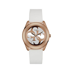 Guess G Twist Stainless Steel Ladies Watch with Rose Gold Tone