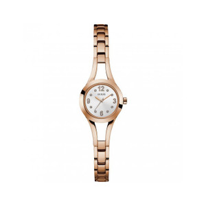 Guess Evie Stainless Steel Ladies Watch with Rose Gold Tone