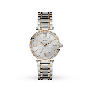 Guess Park AVE Stainless Steel Ladies Watch with Silver Tone