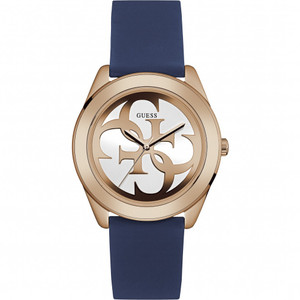 Guess G Twist Stainless Steel Ladies Watch with Blue Strap