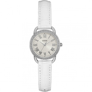 Guess Fifth AVE Stainless Steel Ladies Watch with White Strap