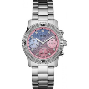 Guess Confetti Stainless Steel Ladies Watch with Silver Tone