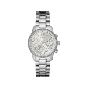Guess Mini Sunrise Stainless Steel Ladies Watch with Silver Tone