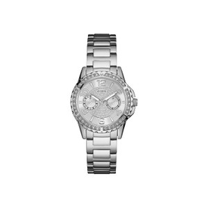 Guess Sassy Stainless Steel Ladies Watch with Silver Tone