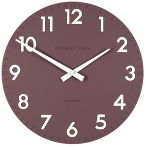 Thomas Kent Camden Designer Wall Clock Plum Colour (30 cm) CK12130